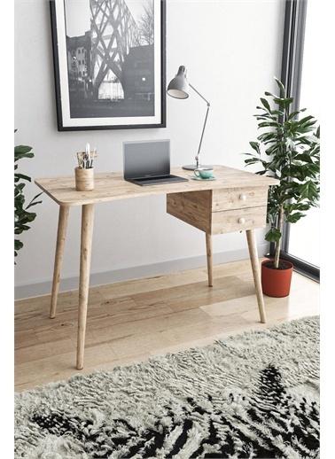 KZY Kzy Soft Çekmeceli  Çalışma Masası - Meşe Renkli